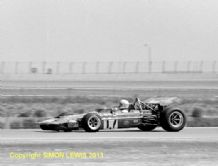 "March 701 Derek Bell , Questor GP, Ontario CA. 1971. 10x7"" photo"